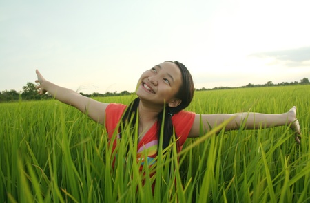 young asian girl: Freedom