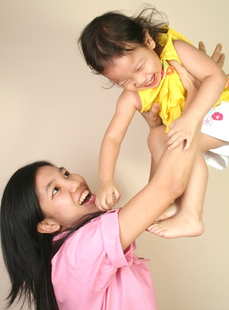 Portrait of mother and baby Stock Photo - 9330342