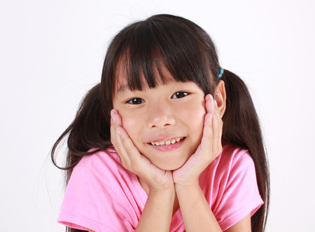 Portrait of young cute girl 스톡 콘텐츠