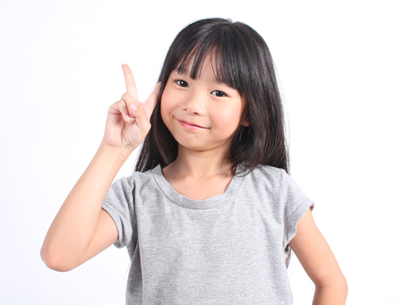 Portrait of young cute girl Foto de archivo