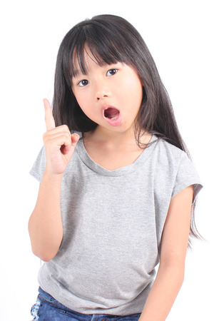 Portrait of young cute girl Banco de Imagens