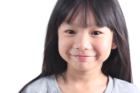 smiling faces: Portrait of young cute girl Stock Photo