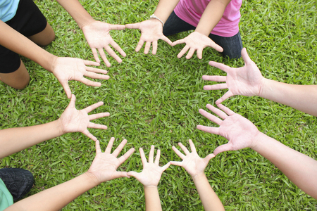 community people: Multicultural hands