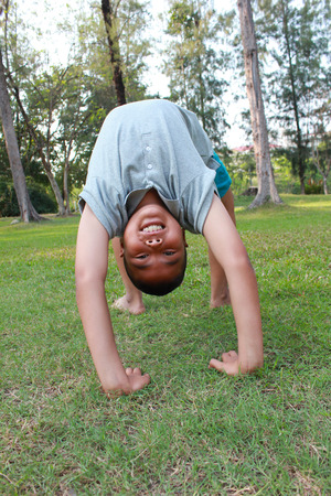 bendable: Active boy in the park.