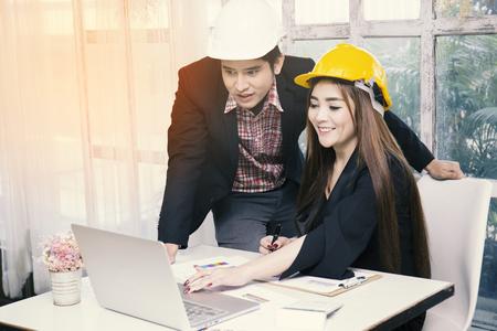Engineers working on project (engineer, computer, engineering)