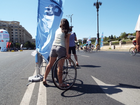 road cycling: International Road Grand Tour 2015 in Bucharest, Romania. Cycling competition. Editorial