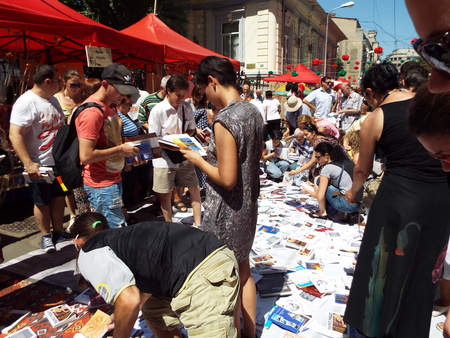 attendance: Armenian Street Festival 2015 in Bucharest, Romania. The festival is intended to celebrate and promote Armenian culture and tradition in a pleasant and interactive manner for all the Bucharesters and attendance from the citys surroundings who want to see