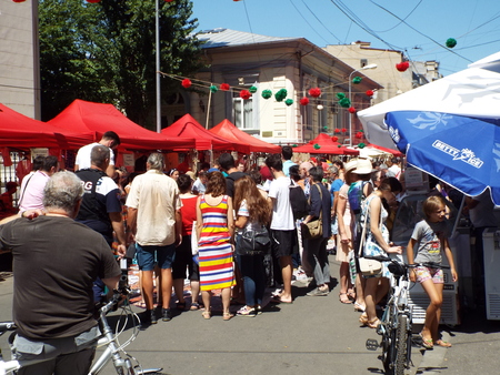 intended: Armenian Street Festival 2015 in Bucharest, Romania. The festival is intended to celebrate and promote Armenian culture and tradition in a pleasant and interactive manner for all the Bucharesters and attendance from the citys surroundings who want to see