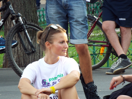 rollerskater: Romania on the Roller 2015 in Bucharest, Romania. Editorial
