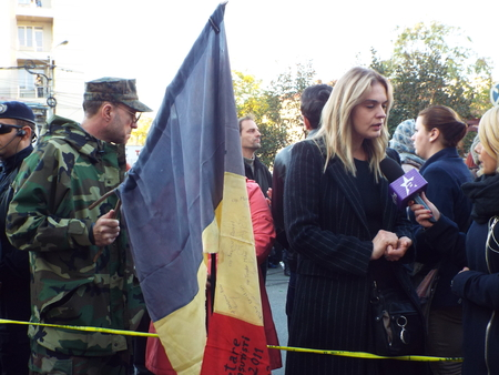 attended: A silent march to commemorate the victims of a fire Colectiv Club in Bucharest,  Romania. 12000 people attended the march. Editorial