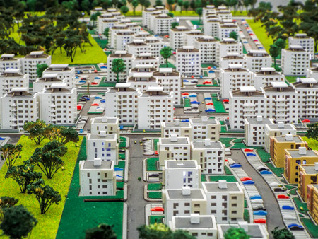 maquette: Miniature city