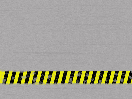 ironworks: Metal background with caution tape Stock Photo