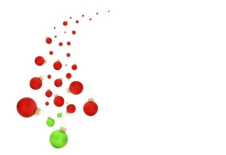 babble: Modern swish of a christmas tree with balls and text on white isolated background