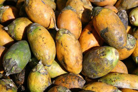 beetlenuts on display at market, south india photo