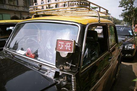 awaiting: taxi awaiting a ride, mumbai, india