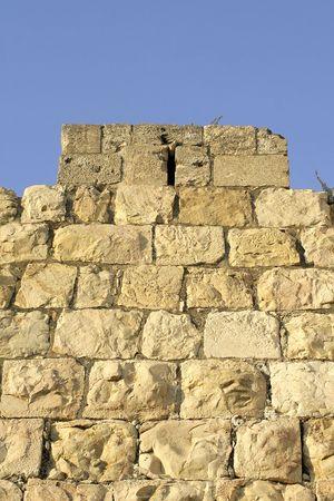 judaic: old city wall, jerusalem, israel Stock Photo