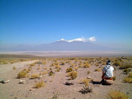emptiness: gazing into the distance, altiplano, uyuni, bolivia, south america Stock Photo
