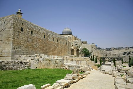 wailing: wailing western and southern wall, jerusalem, israel