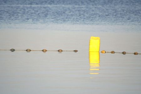 nature reserves of israel: buoy in the dead sea