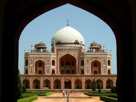 tumbas: La tumba de Humayun en Delhi, India