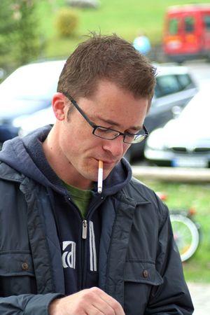man smoking: man smoking cigarette
