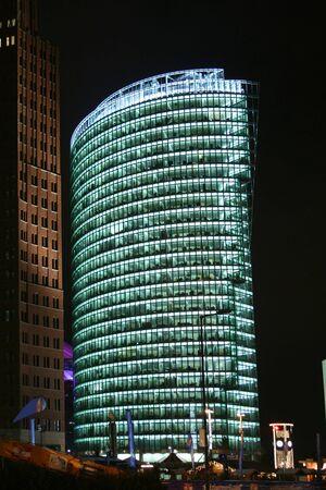 nite: illuminated building at night, berlin, germany