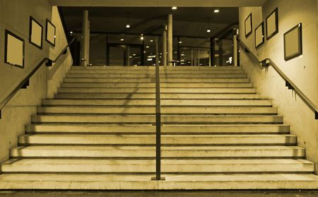 nite: wide stairs leading up