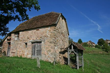 old barn in field Stock Photo - 3930844