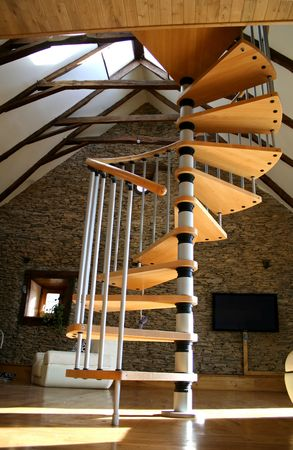 open stair case photo