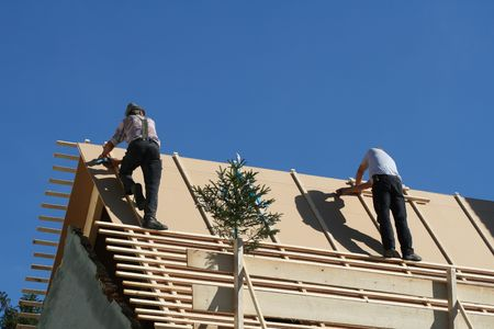 repair man: roofers on the roof!