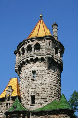 rapunzel: mutter tower roof Stock Photo