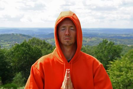 meditating man photo