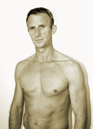 sepia of man's torso Stock Photo - 3966426