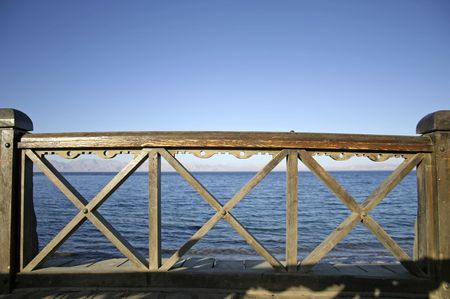 bridge in dahab, red sea, sinai, egypt photo