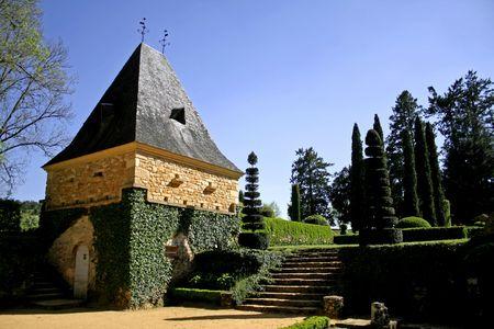renovated building in eyrignac garden photo