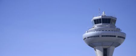 control tower panorama, madrid, spain photo