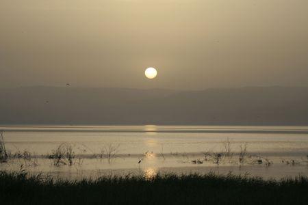 galilee: Sunrise over the sea of Galilee, israel
