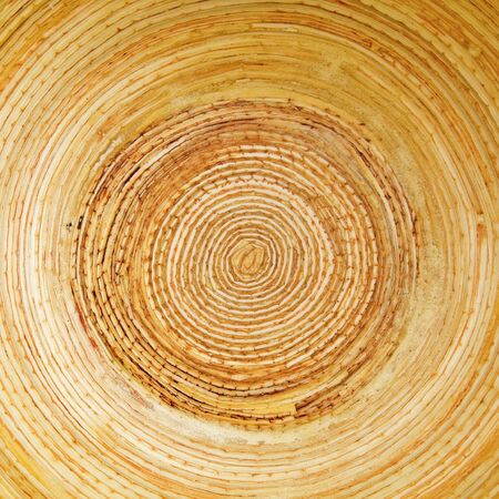 logwood: circular bamboo textured background of plate in asia