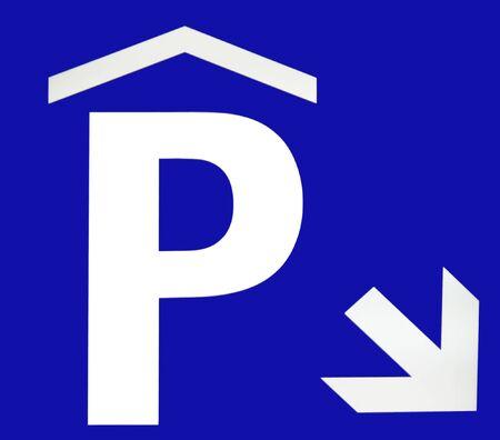 underground parking sign on blue background Stock Photo - 4112020