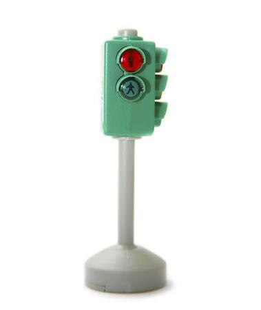 Pedestrian traffic light isolated on white background Stock Photo - 4144389