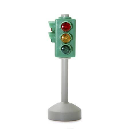 Car traffic light isolated on white background Stock Photo - 4144387