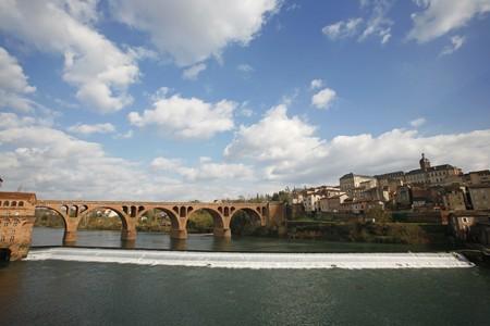 panorama of the bridge over tarn river in Albi, France Stock Photo - 4436061