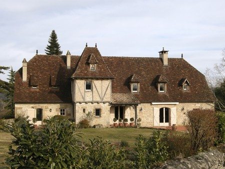 Old style mansion in countryside of Correze in France photo