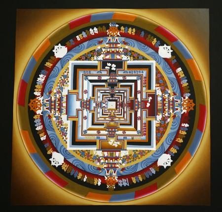 monasteri: Mandala tibetano in monastero a Kathmandu, Nepal