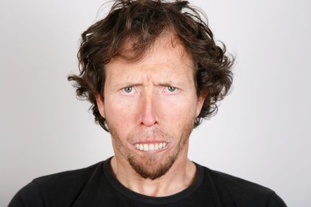 Portrait of an upset man with protruding teeth Stock Photo - 4716039