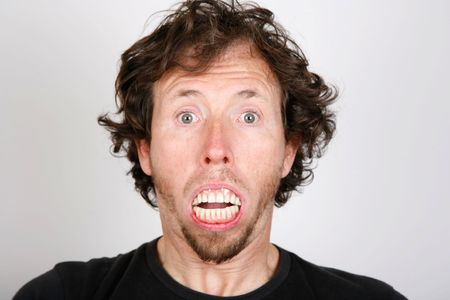 Man surprise with mouth full of teeth Stock Photo - 4716033