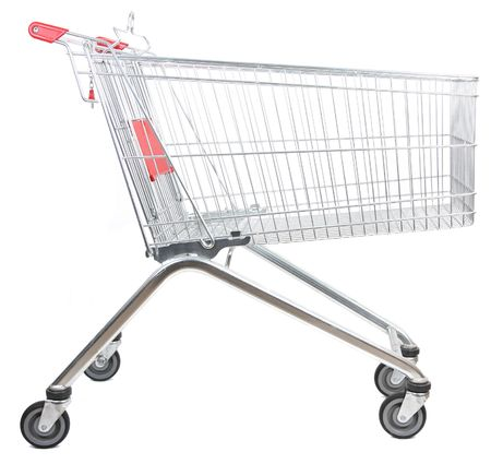 metal shopping trolley isolated on white background Stock Photo - 5945238