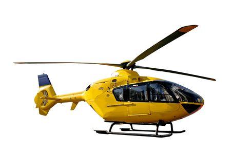 ambulance: helicóptero de rescate aislado Foto de archivo
