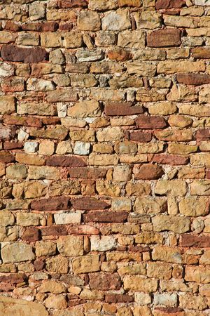 Background view of orange and red stone wall photo