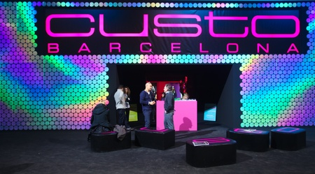 templehof: BERLIN - JANUARY 19:  Custo stand at Bread & Butter fair on January 19, 2011 in Berlin, Germany. Tens of thousands of visitors attended the tradeshow this year.
